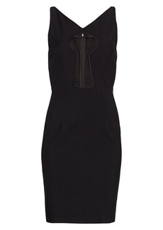 Moschino Illusion Keyhole Panel Sheath Dress