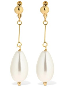 Moschino Imitation Pearl Clip-on Earrings