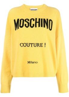 Moschino intarsia-knit logo jumper