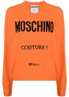 Moschino intarsia logo jumper