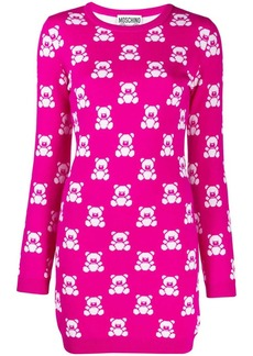 Moschino intarsia teddy bear mini dress