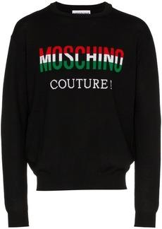 Moschino italian flag logo sweater