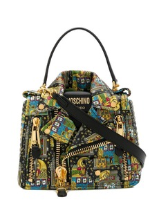 Moschino jacket-style casino print shoulder bag