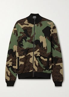 Moschino Jacquard-knit Wool Jacket
