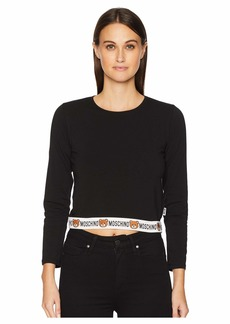 Moschino Jersey Stretch Long Sleeve T-Shirt
