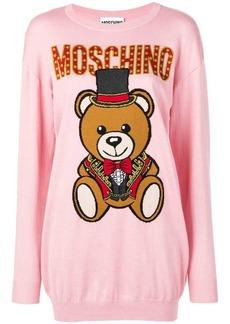 3a8bc6527f5 SALE! Moschino Moschino Playboy Toy Bear sweater dress - Pink   Purple