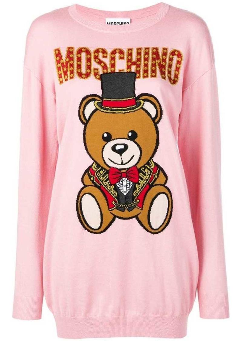 d0ffa4ef50b Moschino knitted bear sweater dress