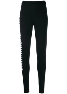Moschino knitted logo leggings