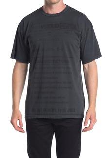 Moschino Label Crew Neck T-Shirt