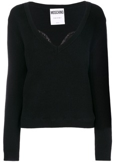 Moschino lace detail sweater