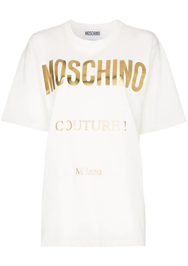 Moschino large logo print T-shirt