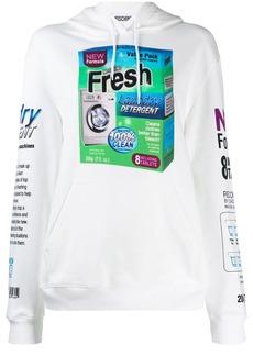 Moschino laundry detergent print hoodie