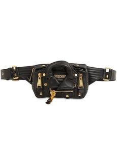 Moschino Leather Jacket Belt Bag