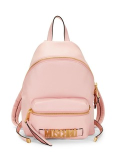 Moschino Leather Logo Backpack