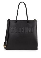 Moschino Leather Logo Shopper Tote