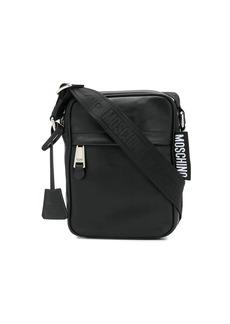 Moschino leather messenger bag