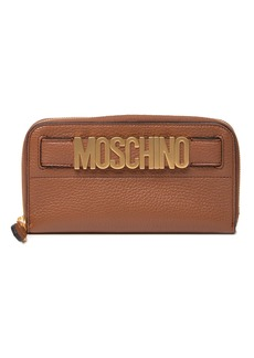 Moschino Leather Zip Around Wallet
