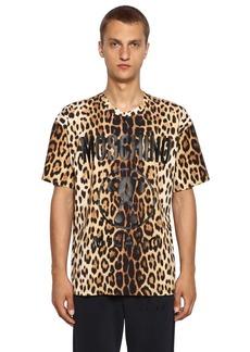 Moschino Leo & Logo Print Cotton Jersey T-shirt