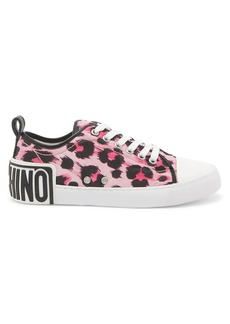 Moschino Leopard Nylon Low-Top Sneakers