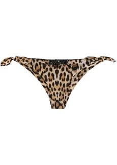 Moschino leopard print bikini bottoms
