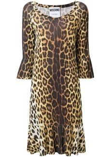 Moschino leopard print midi dress