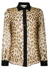 Moschino leopard print shirt