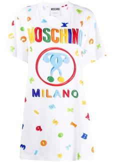Moschino letter print T-shirt dress