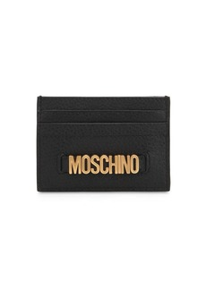 Moschino Lettered Logo Leather Card Holder