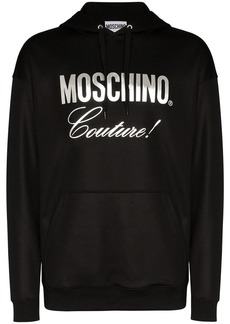 Moschino lettered logo print hoodie