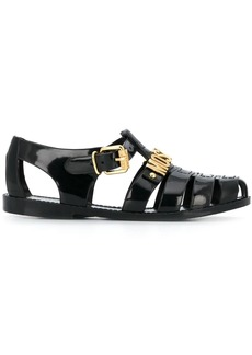 Moschino lettering logo jelly sandals