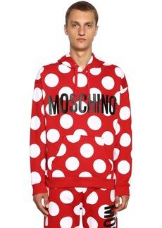 Moschino Logo & Dot Printed Sweatshirt Hoodie