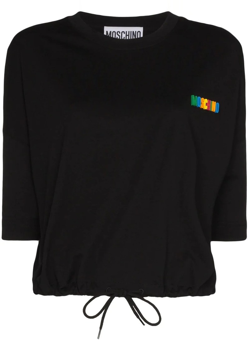Moschino logo-appliqued cotton T-shirt