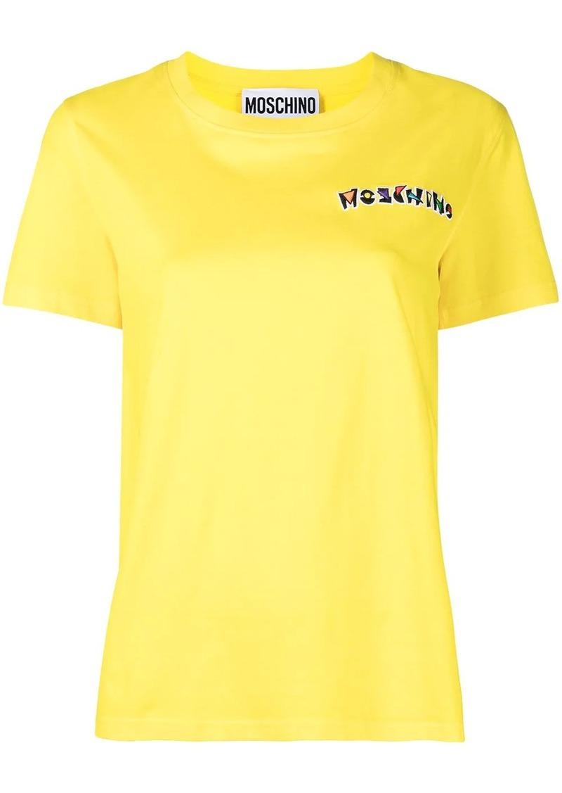 logo-appliqued T-shirt