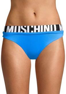 Moschino Logo Beach Bikini Bottoms