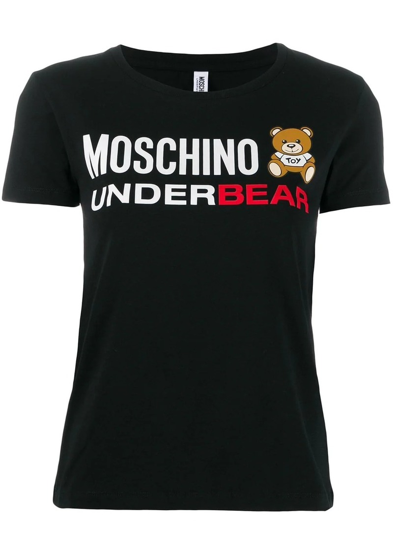 Moschino logo bear printed T-shirt