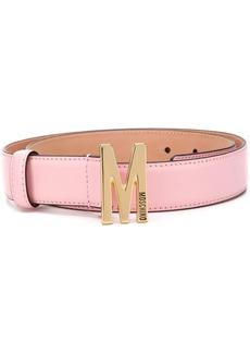 Moschino M logo-plaque belt