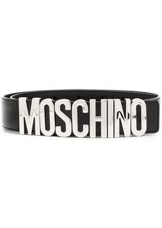 Moschino logo-plaque buckle belt