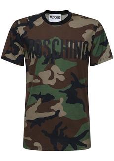 Moschino Logo Camo Print Cotton T-shirt