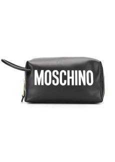 Moschino logo cosmetic case