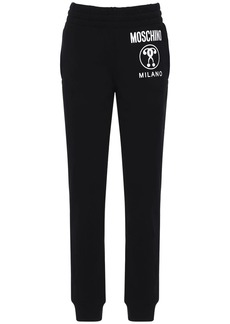Moschino Logo Cotton Jersey Track Pants
