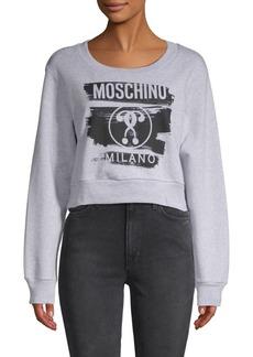 Moschino Logo Cotton Sweatshirt