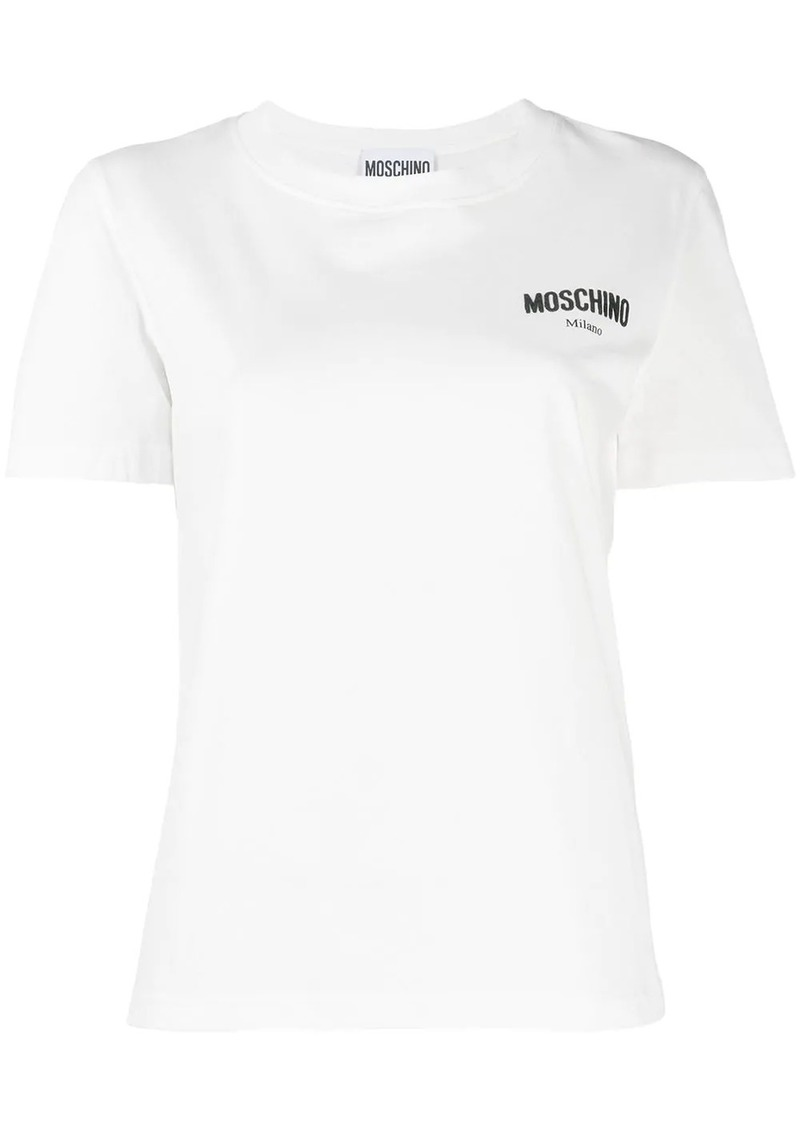Moschino logo embroidered performance T-shirt