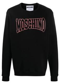 Moschino logo embroidered sweatshirt
