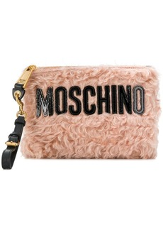 Moschino logo envelope clutch
