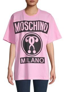 Moschino Logo Graphic Oversized Cotton Tee