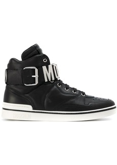 Moschino logo hi-top sneakers