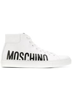 Moschino logo high-top sneakers