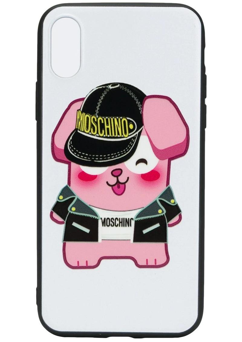Moschino logo iPhone X case