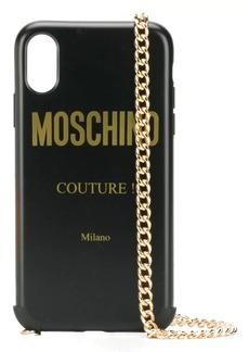 Moschino logo iPhone XR case