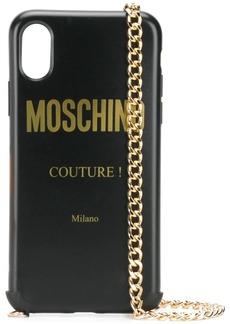 Moschino logo iPhone XS/X case
